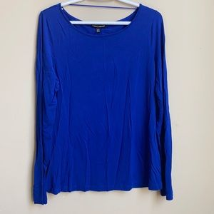Cable and Gauge royal blue long sleeves top XL
